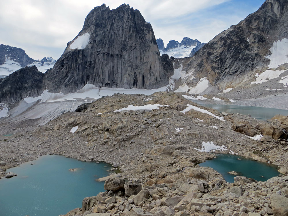 Bugaboos, Bugaboo-Snowpatch Col with Howser Towers and Lakes
