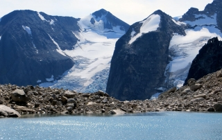 Bugaboos, Hounds Tooth with glacial lake